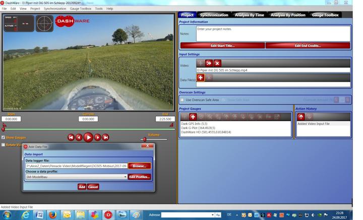Boardcam und GPS Logger